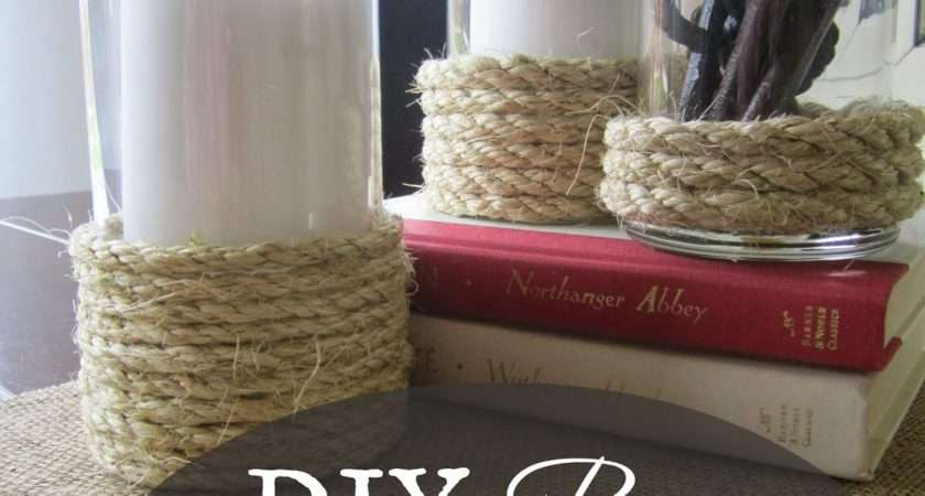 Restoration Beauty Diy Rope Hurricane Vases Candle Holders