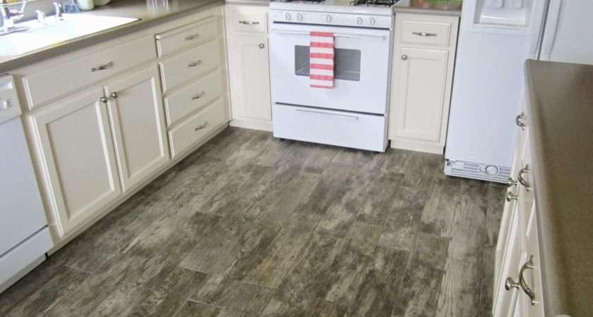 Restoration Beauty Faux Wood Tile Flooring Kitchen
