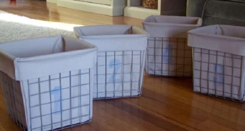 Restoration Hardware Inspired Industrial Baskets Fabric Liners