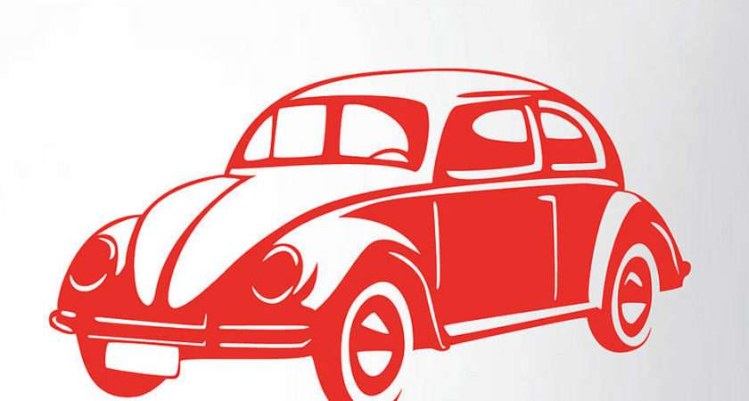 Retro Car Vinyl Wall Sticker Contemporary Stickers