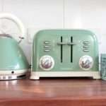 Retro Kettle Toaster Set Green