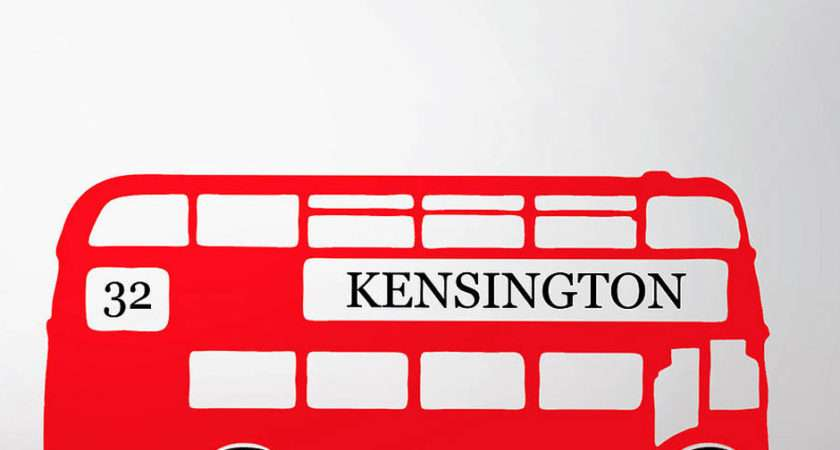 Retro London Bus Wall Sticker Contemporary Stickers