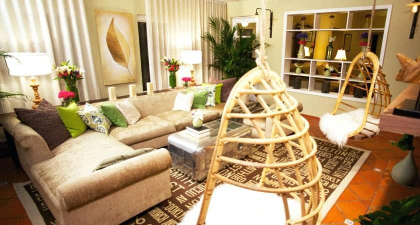 Retro Modern Living Room Hanging Chairs