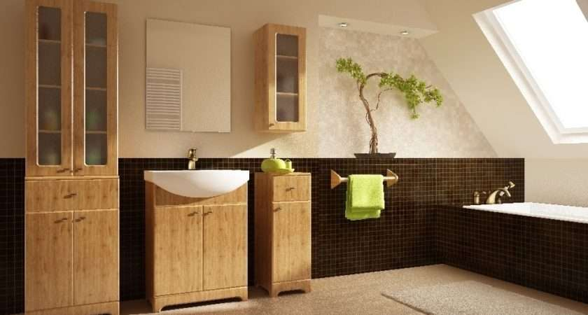 Retro Wooden European Bathroom Design Ideas