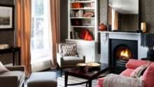Rich Colour Winter Living Room Decorating Ideas