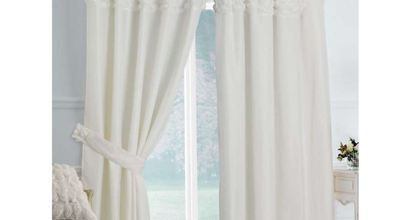 Rimini Lined Voile Curtains Cream Next Day Delivery