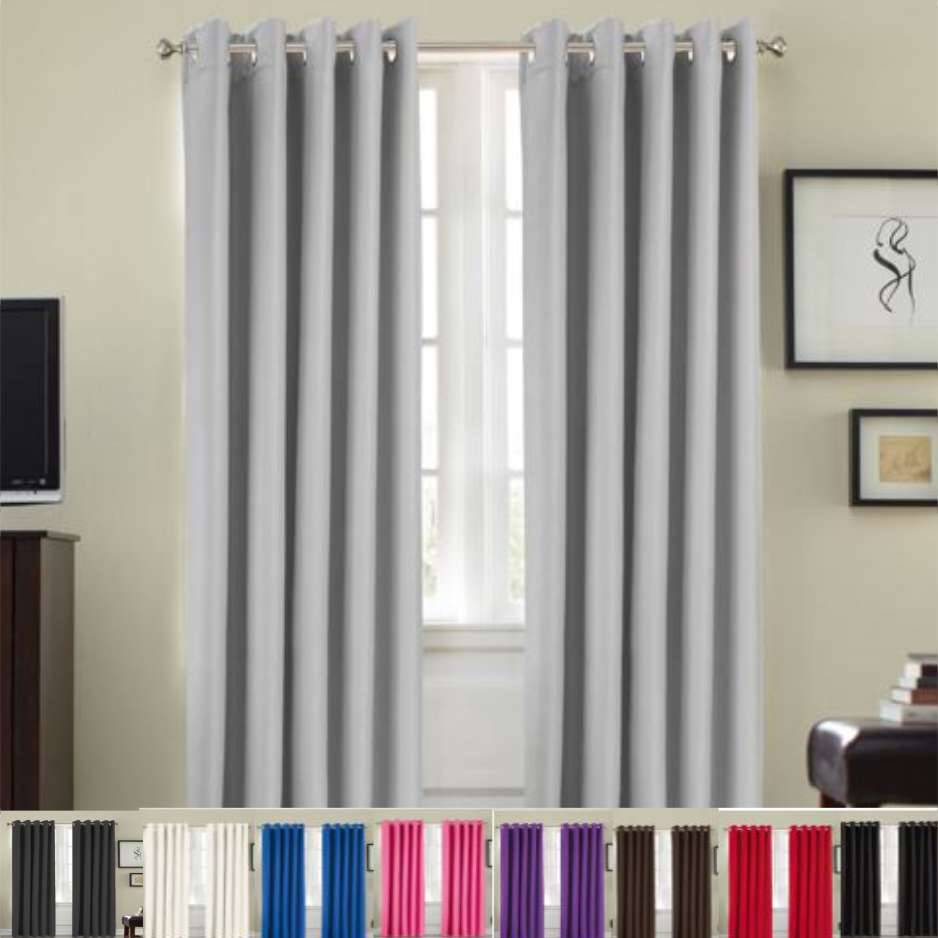 Ring Top Ready Made Blackout Curtains Ezy Sleep