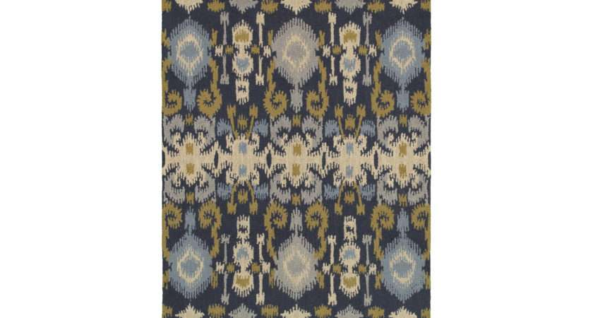 Rizzy Home Country Rectangular Navy Area Rug Collection