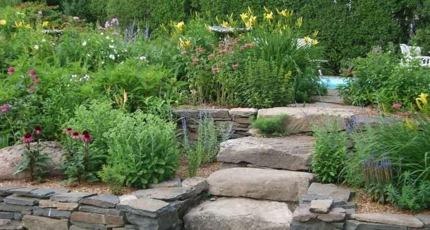 Rock Garden Ideas Stone Photograph Raised Bed Near