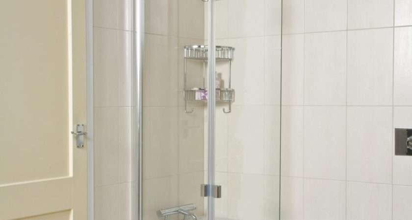 Roman Lumin Inward Folding Bath Screen Bathroom