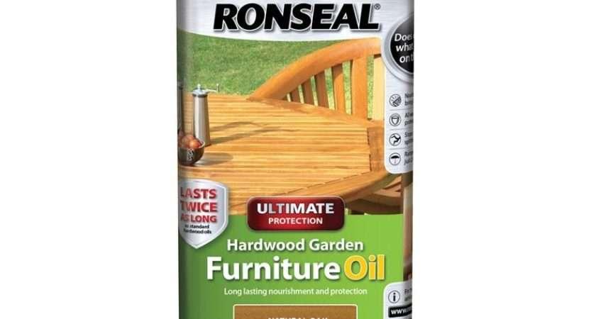 Ronseal Natural Oak Hardwood Garden Furniture Care Tin