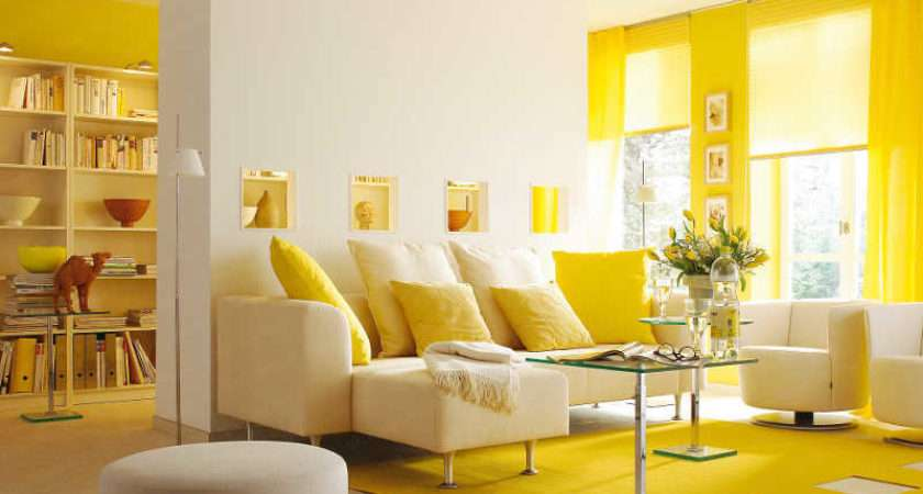 Room Curtain Ideas Living Yellow