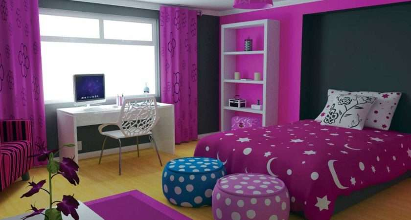 Room Decor Ideas Teenage Girl Purple Themes