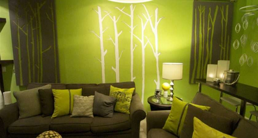 Room Green Living Decoration