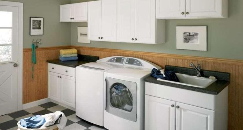 Room Laundry Cabinet Three Machines Wall Cupboard