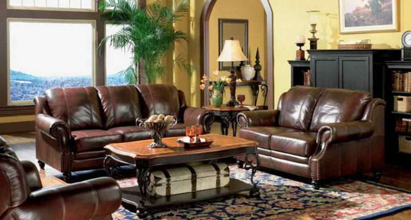Room Living Rooms Leather Furniture Decorating Ideas