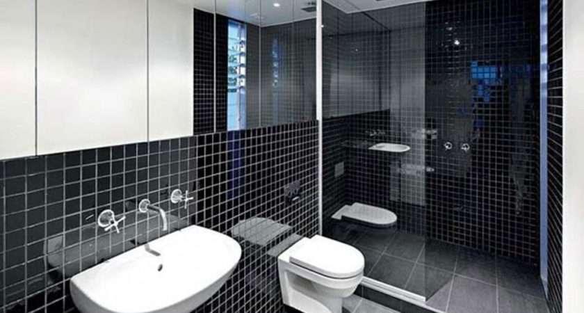Room Mirror Ideas Black White Bathroom Tile Design