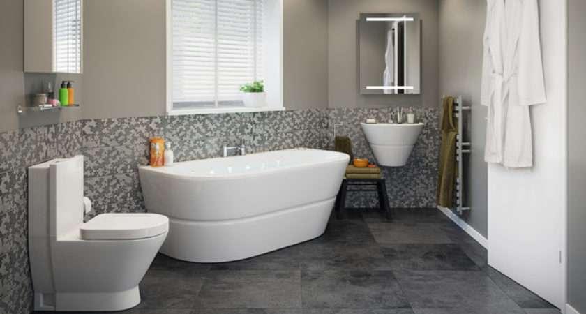 Rosalind Bathroom Suite Contemporary
