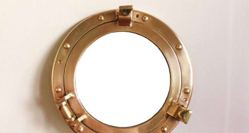 Round Brass Porthole Style Mirror Highstreetmarket Etsy