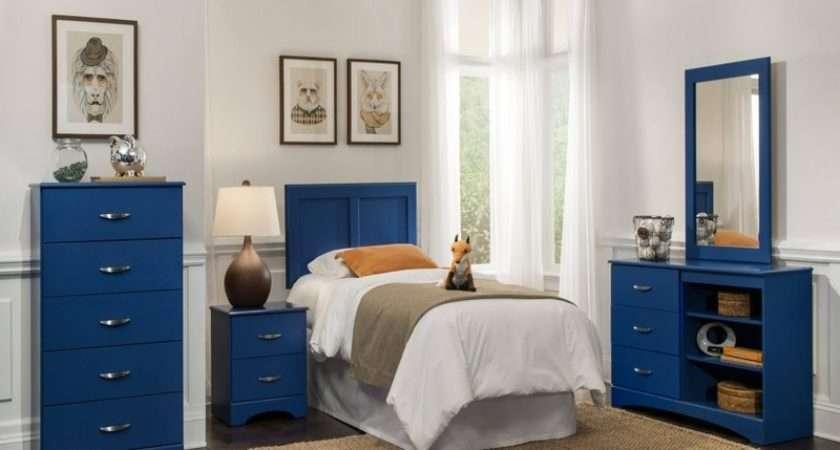 Royal Blue Painted Bed Room Furnitureteams