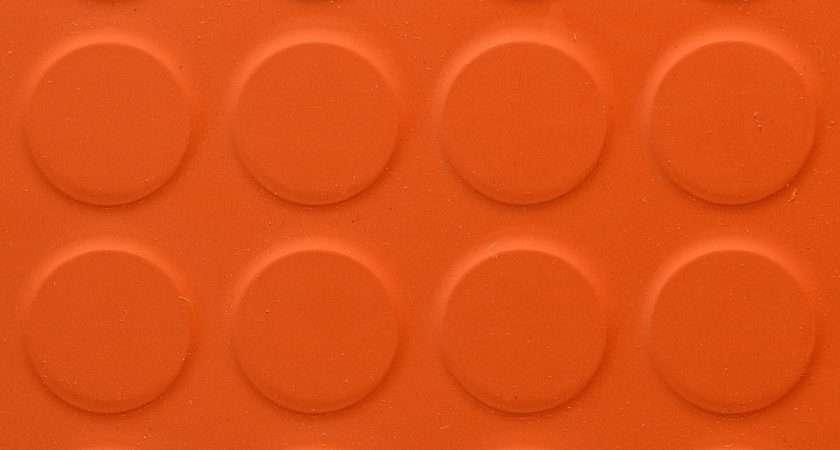 Rubber Floor Tile Round Stud Orange Store
