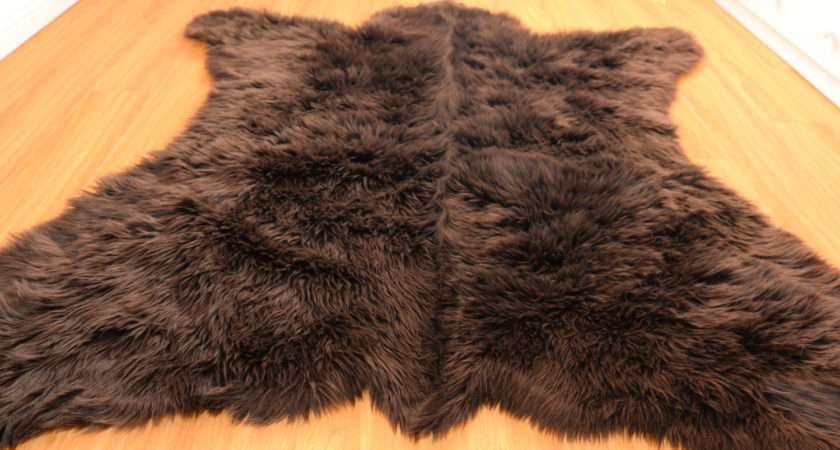 Rugs Faux White Fur Rug Animal Bear