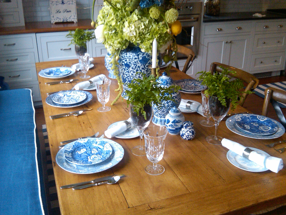 Rumson Kitchen Tour Table Setting