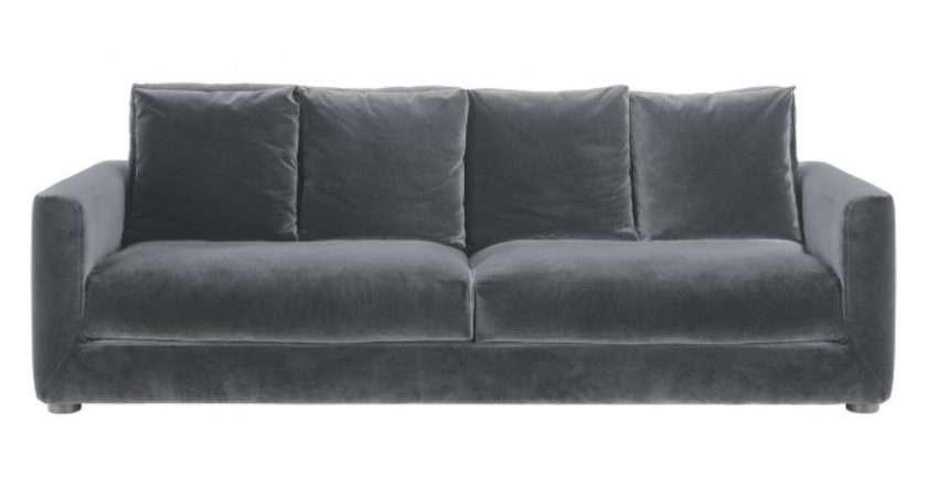 Rupert Dark Grey Velvet Seater Sofa Bed Buy Now
