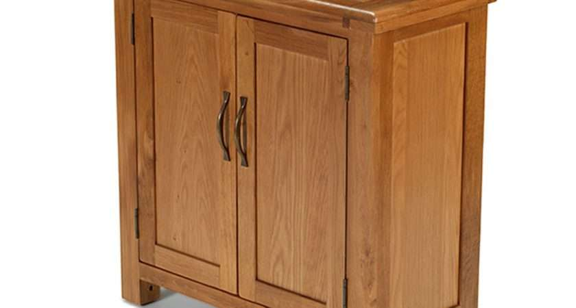 Rushden Solid Oak Furniture Small Petite Cabinet Storage