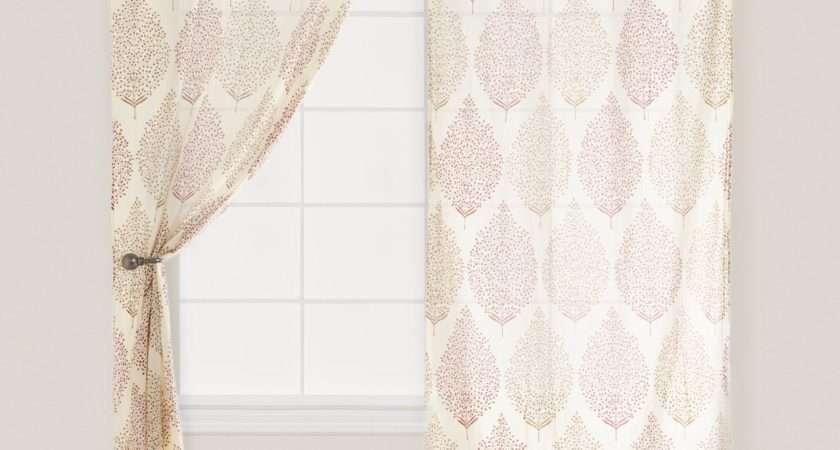Rust Kashvi Patterned Crinkle Voile Curtain World Market