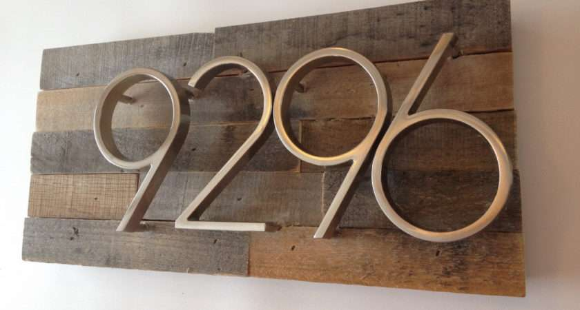 Rustic Address Plaque Made Reclaimed Madewithbeerinhand