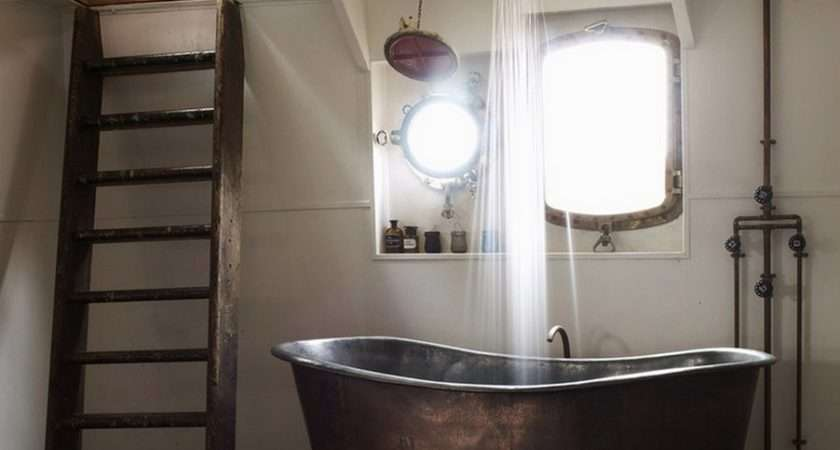 Rustic Bathroom Designs Copper Bathtub