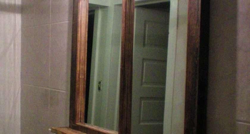 Rustic Bathroom Mirror Shelf Best Decor Things