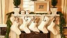 Rustic Christmas Fireplace Living Room Decor Ideas