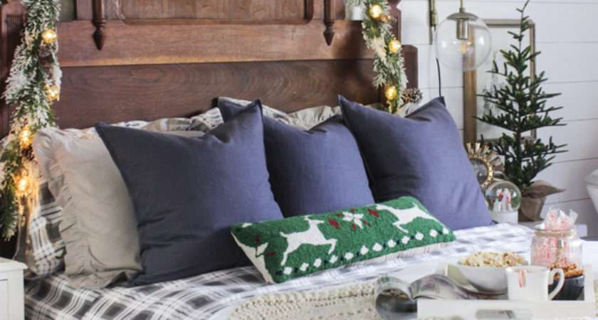 Rustic Christmas Master Bedroom Shades Blue Interiors