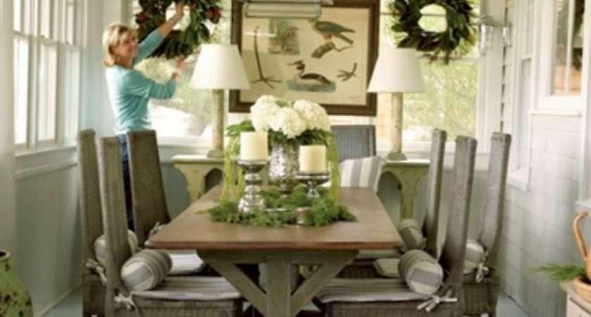 Rustic Dining Room Decorating Ideas Large Beautiful