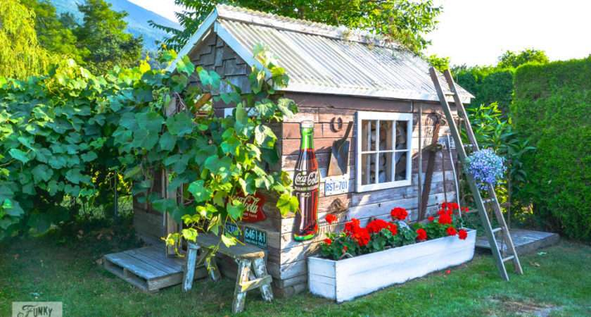 Rustic Garden Shed Via Funky Junk Interiors Reclaimed Wood