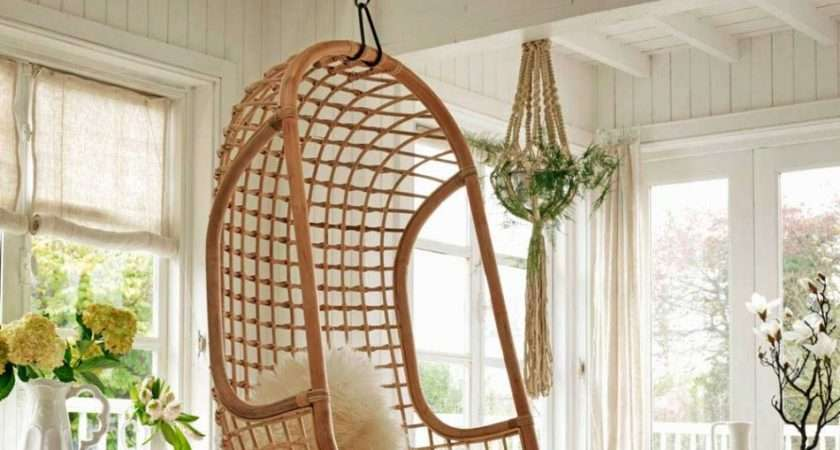 Rustic Rattan Hanging Chair Favorite Indoor Outdoor
