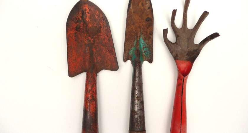 Rusty Crusty Vintage Garden Tools Misscecelia Etsy