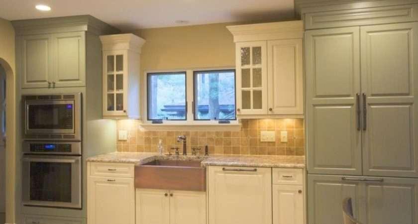 Sage Green Kitchen Cream Cabinets Ivory