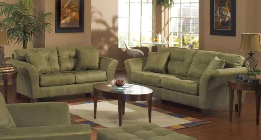 Sage Green Sofa Microfiber Sectional