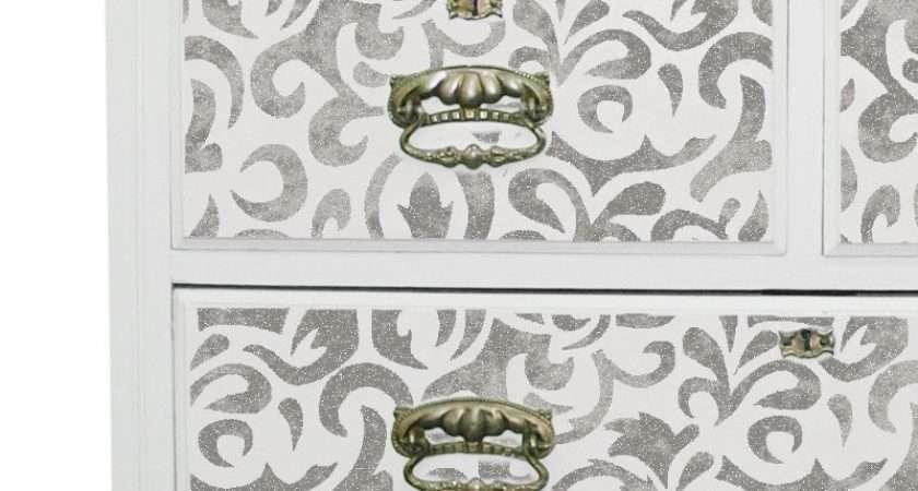 Sakarya Brocade Damask Furniture Stencil