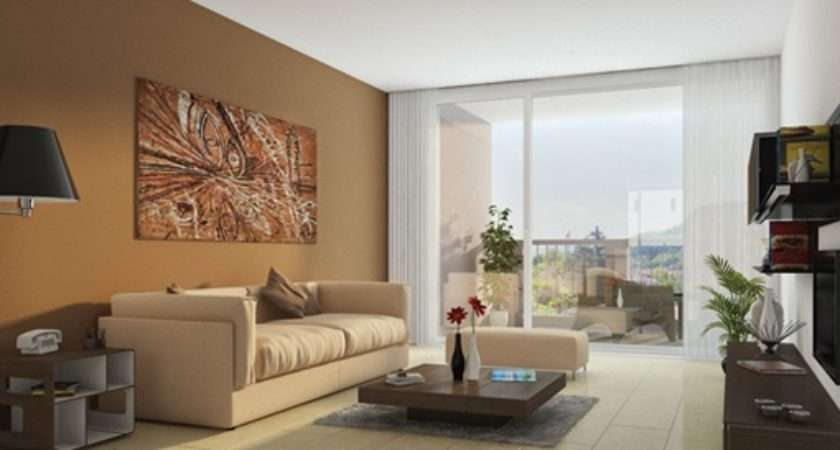 Salas Modernas Con Paredes Color Marr