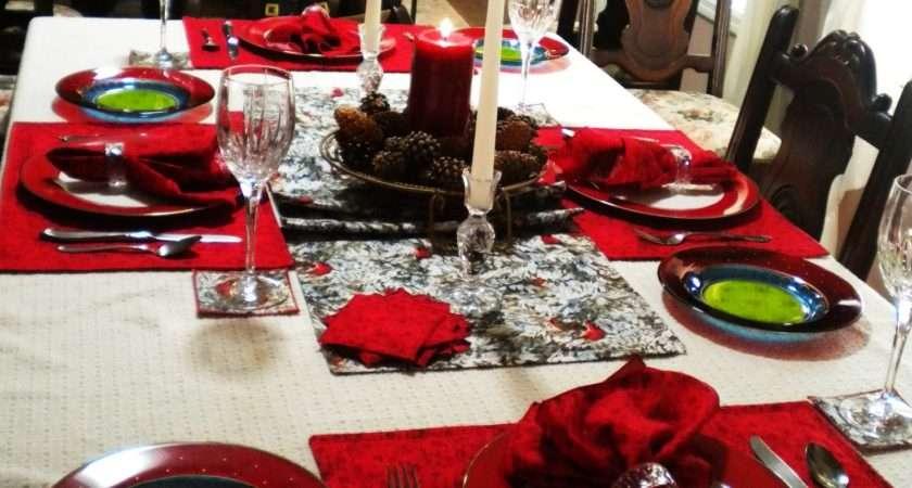 Sale Christmas Dining Table Linen Set Ravennacash