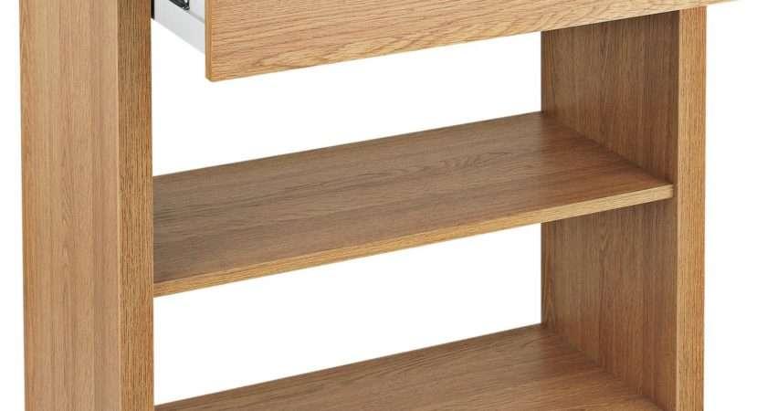 Sale Home Slimline Console Table Oak Effect