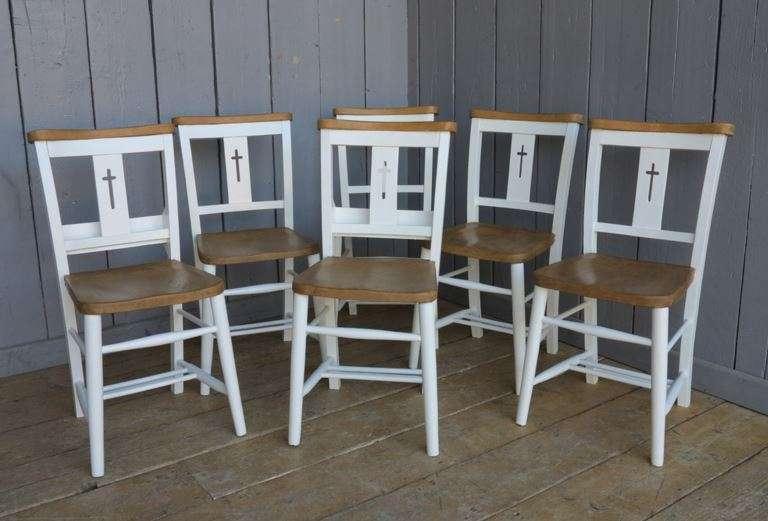 Sale Painted Reclaimed Chapel Chair Farrow Ball