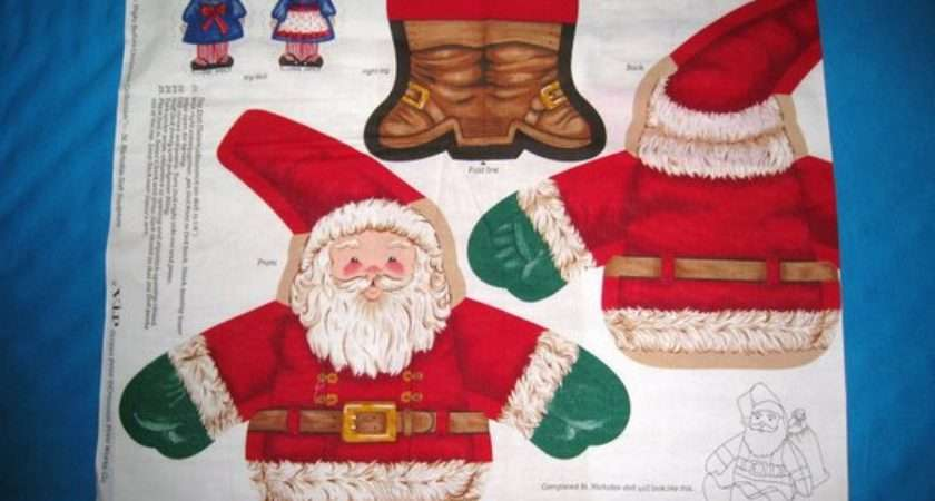 Sale Vintage Santa Sack Toy Doll Fabric