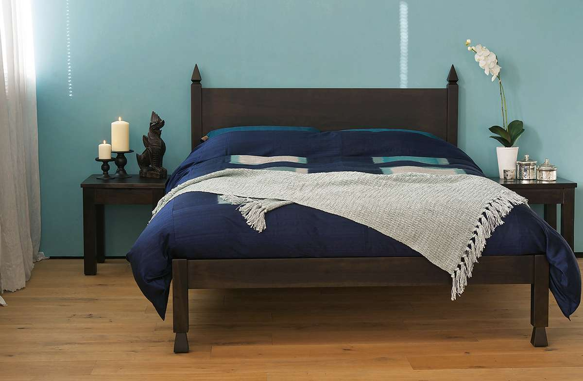 Samarkand Indian Style Wooden Bed Natural