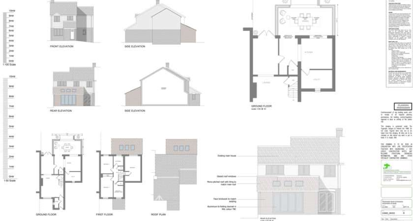 Sample Extension Property Drawings Ltd Architectural