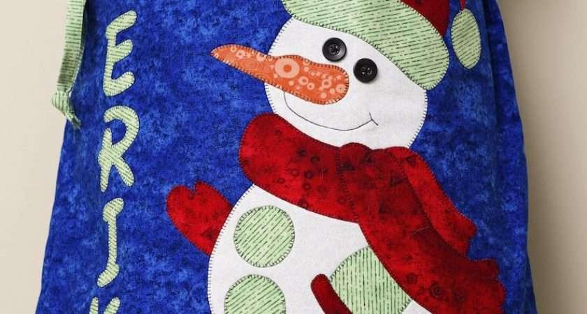 Santa Sack Patterns Snowboy Snowgirl Quilts Jen